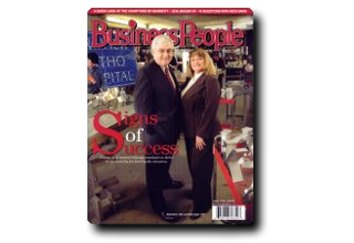 Business People Magazine on Diskey Signs Image | Diskey Sign Company